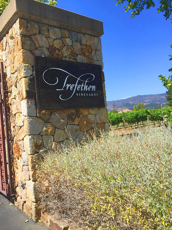 """Dinner at the Villetta"" Trefethen Vineyards Napa 2015"