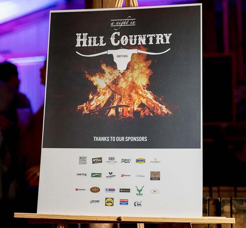 Chefs Roll: A night in Hill country November 2018